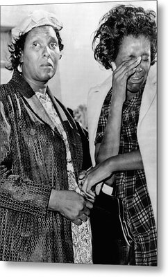 Two African American Women Stand Metal Print by Everett