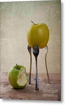 Two Apples Metal Print by Nailia Schwarz