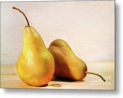 Two Pears Metal Print by Sandra Cunningham