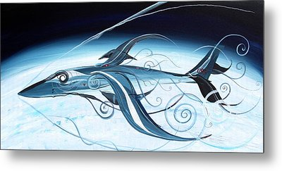 U2 Spyfish - Spy Plane As Abstract Fish - Metal Print by J Vincent Scarpace