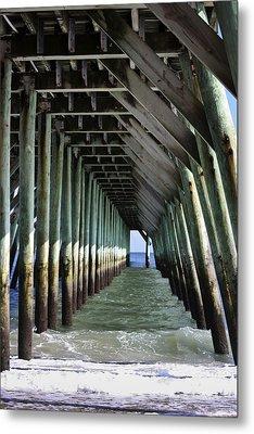 Under The Pier Metal Print by Teresa Mucha