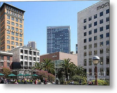 Union Square San Francisco Metal Print by Wingsdomain Art and Photography