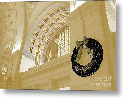 Union Station Holiday Metal Print by Jost Houk