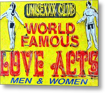 Unisexxx Club Metal Print by Wingsdomain Art and Photography