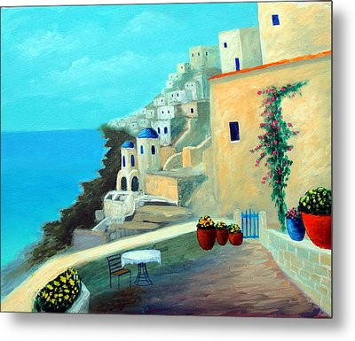 Up High On The Mediterranean Metal Print by Larry Cirigliano