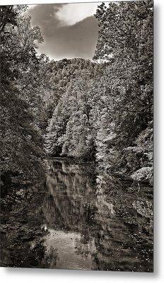Up The Lazy River Monochrome Metal Print by Steve Harrington