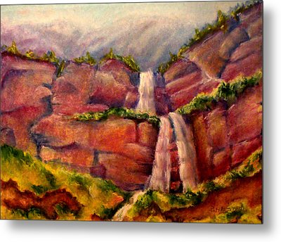 Utah National Forest Metal Print by Patricia Halstead