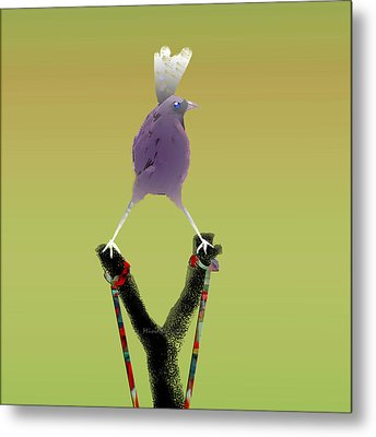 Valiant Bird Metal Print by Asok Mukhopadhyay