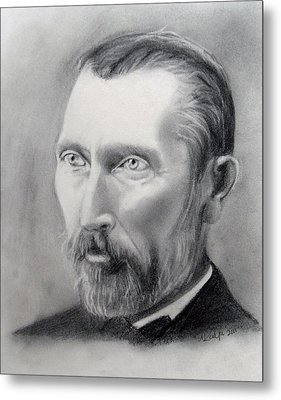Van Gogh Pencil Portrait Metal Print