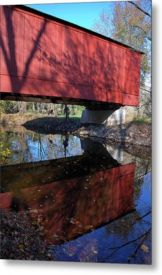 Metal Print featuring the photograph Van Sant Covered Bridge by Steven Richman