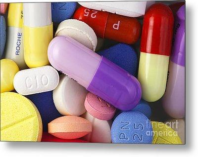 Variety Of Pills Metal Print by M. I. Walker