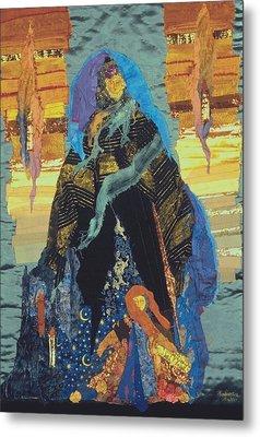 Veiled Woman With Spirit Child Metal Print by Roberta Baker