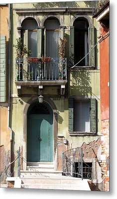 Venetian Doorway Metal Print by Carla Parris
