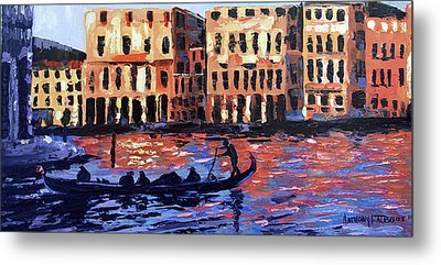 Venice At Twilight Metal Print by Anthony Falbo