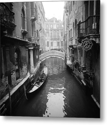 Metal Print featuring the photograph Venice Canal by Emanuel Tanjala