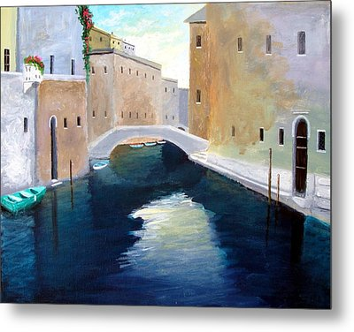 Venice Water Dance  Metal Print by Larry Cirigliano