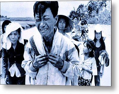 Vietnam War A Head Of Family Weeps Metal Print by Everett