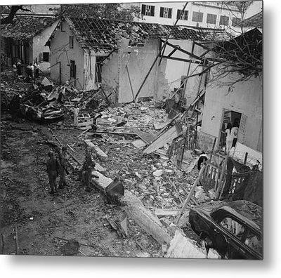 Vietnam War. Destruction Of The Brinks Metal Print