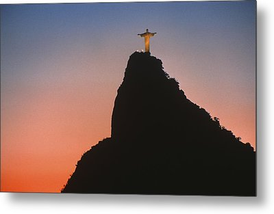 View Of Christ The Redeemer  Metal Print by Anonymous