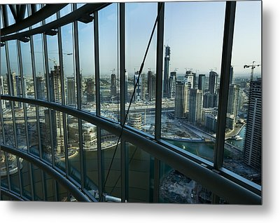 View Of High Rises And Construction Metal Print by Mattias Klum