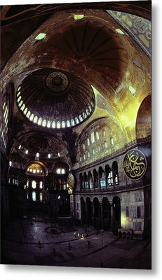 View Of The Interior Of Hagia Sophia Metal Print by James L. Stanfield