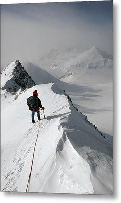 Viewing Mt.shinn From The Vinson Metal Print by Gordon Wiltsie