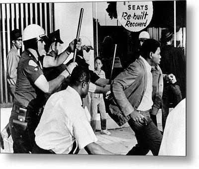 Violence On South Los Angeles Street Metal Print by Everett