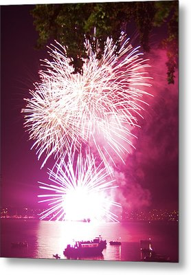 Metal Print featuring the photograph Violet Explosion by JM Photography