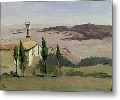 Volterra Metal Print by Jean Baptiste Camille Corot
