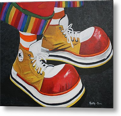 Waffle's Shoes Metal Print by Betty-Anne McDonald