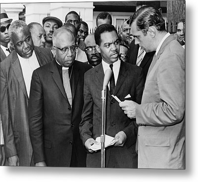 Walter Fauntroy Second From Right Metal Print