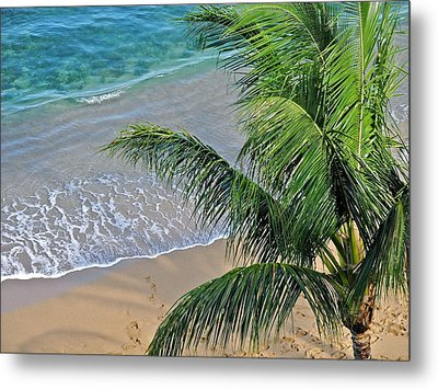 Metal Print featuring the photograph Warm Maui Waters Lapping Ashore by Kirsten Giving
