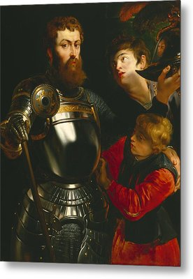 Warrior  Metal Print by Peter Paul Rubens