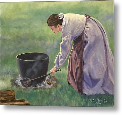 Wash Day II Metal Print by Karen Wilson