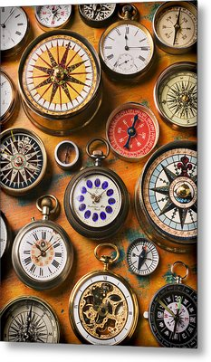 Watches And Compasses  Metal Print by Garry Gay
