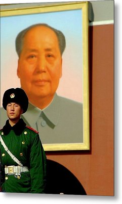 Watching Over Mao Metal Print by Anthony Silver