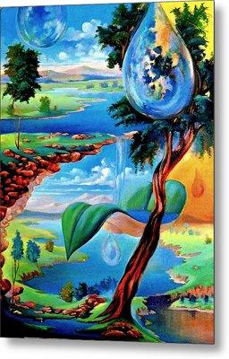 Water Planet Metal Print by Leomariano artist BRASIL