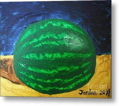Watermelon Still Life Metal Print by Jeannie Atwater Jordan Allen
