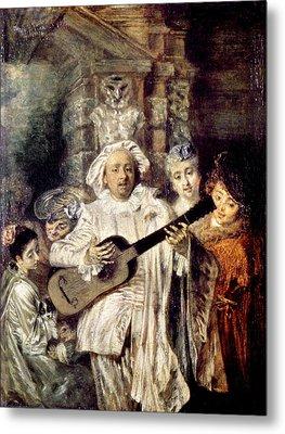 Watteau: Gilles & Family Metal Print by Granger