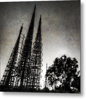 Watts Towers Metal Print by Natasha Bishop