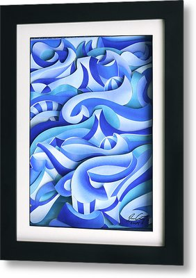 Waves 2 Metal Print by Jason Amatangelo
