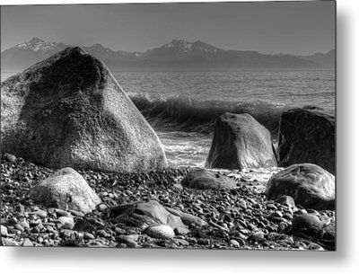 Metal Print featuring the photograph Waves At Diamond Beach by Michele Cornelius