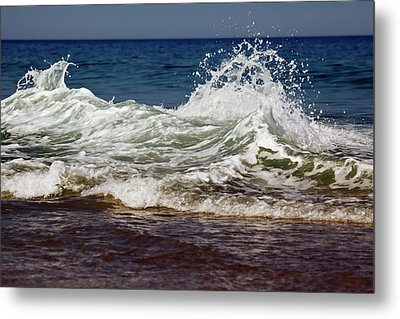 Waves In Motion Metal Print by Nick  Shirghio