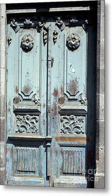Metal Print featuring the photograph Weathered Quito Door Ecuador by John  Mitchell