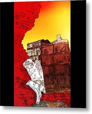 Weeping Angel Metal Print by Rob Tullis
