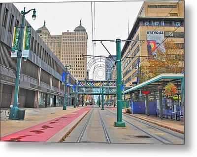 Metal Print featuring the photograph Welcome To Dt Buffalo by Michael Frank Jr