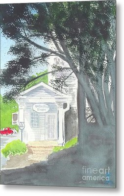 Metal Print featuring the painting Wellers Carriage House 1 by Yoshiko Mishina