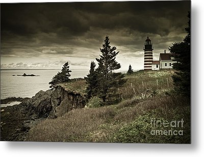 Metal Print featuring the photograph West Quoddy Head Lighthouse by Alana Ranney
