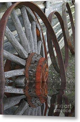 Wet Wheels Metal Print by Al Bourassa