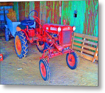 Metal Print featuring the photograph When Tractors Were Tractors by Duncan Pearson